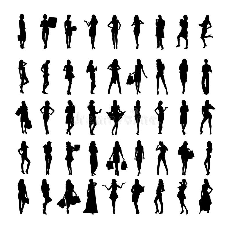 Femmes avec des paniers illustration libre de droits