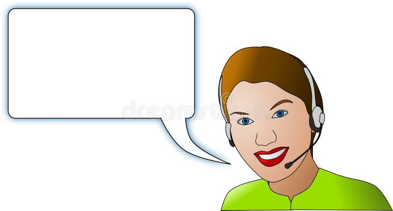 Femmes avec l'écouteur illustration libre de droits