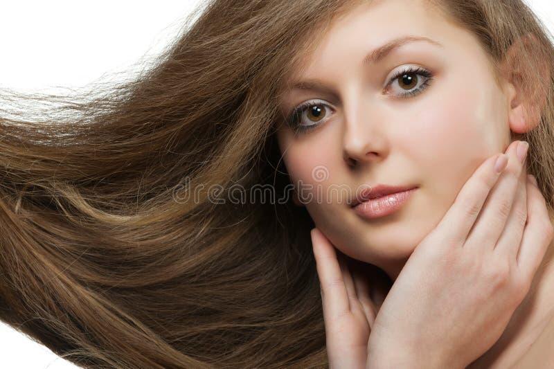 Femmes avec le long cheveu images libres de droits