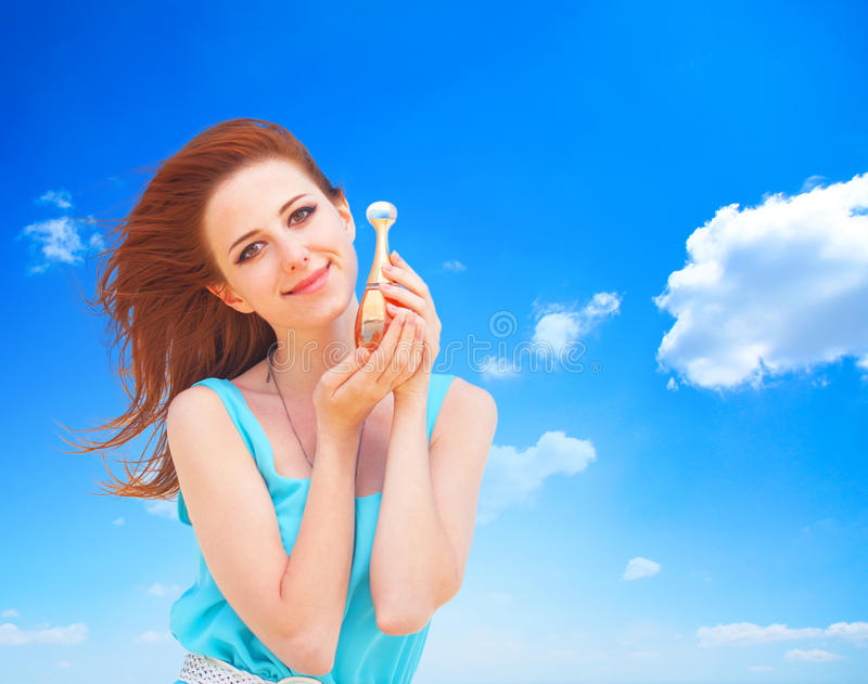 Femmes avec le parfum photo stock