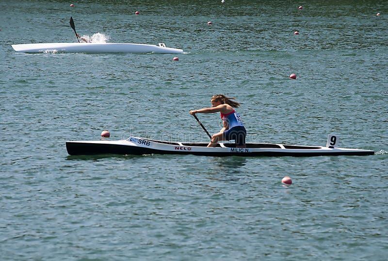 Femmes C1 500m A final image libre de droits