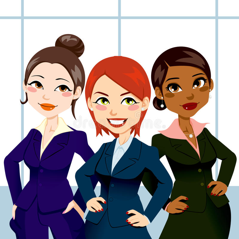 Femmes confiantes d'affaires illustration stock