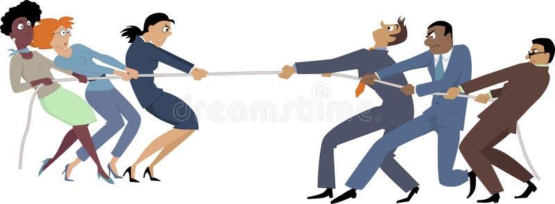 Femmes contre les hommes illustration libre de droits
