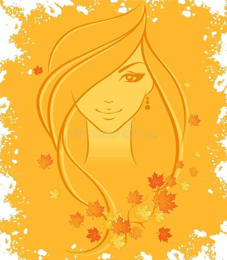 Femmes d'automne illustration de vecteur
