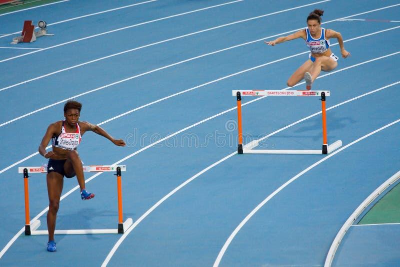femmes d'obstacles de 400 m photo stock
