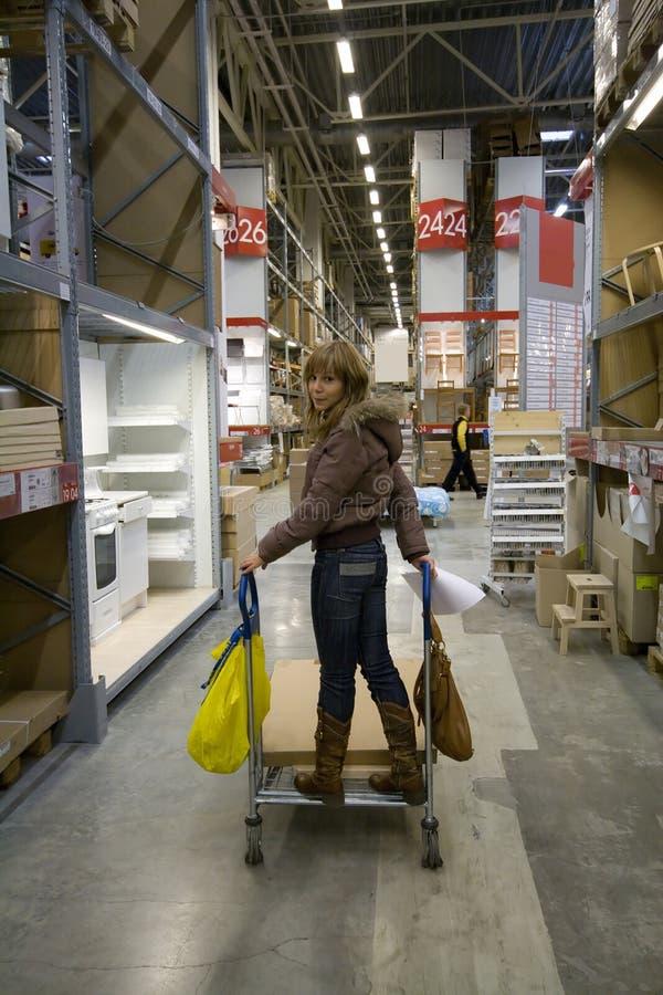 Download Femmes dans l'entrepôt image stock. Image du cargaison - 8665755
