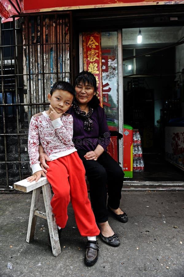 Femmes dans le comté de Wuyuan, Jiangxi, Chine image libre de droits