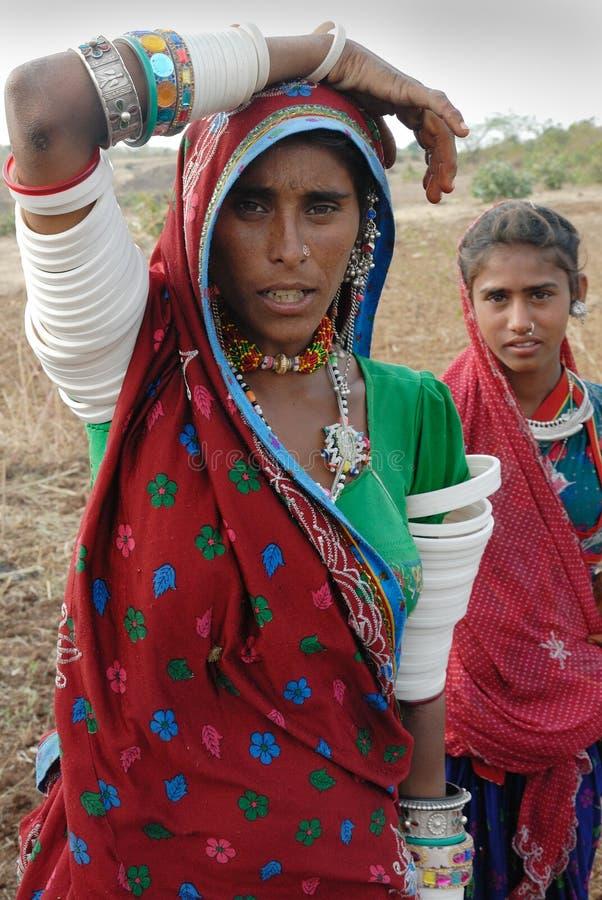 Femmes de Banjara en Inde photographie stock libre de droits