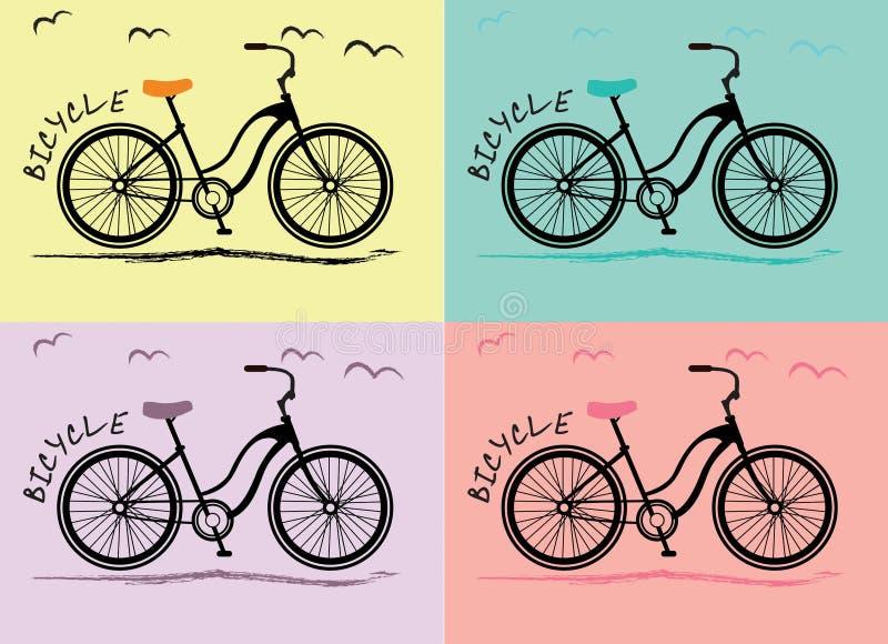 Femmes de bicyclette photographie stock