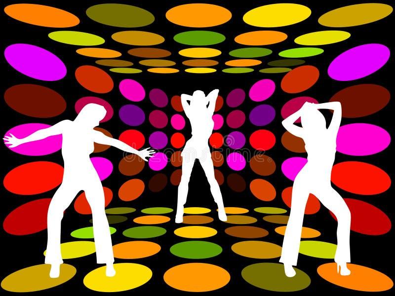 Femmes de disco illustration de vecteur