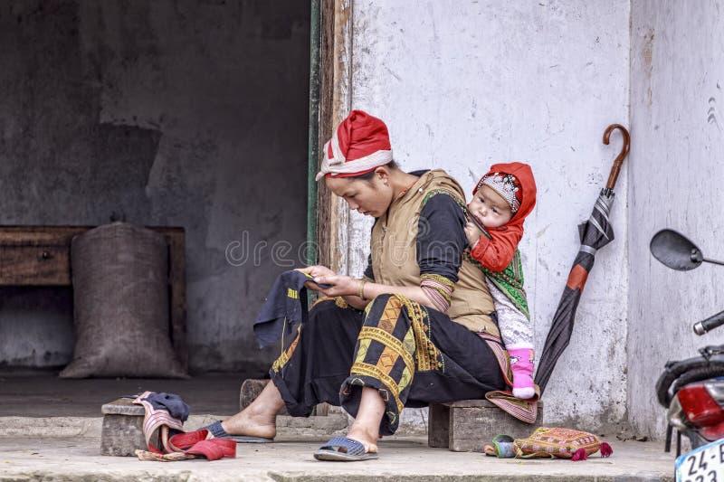 Femmes de Hmong images stock