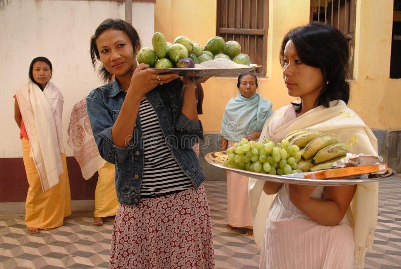 Femmes de Manipuri photo libre de droits