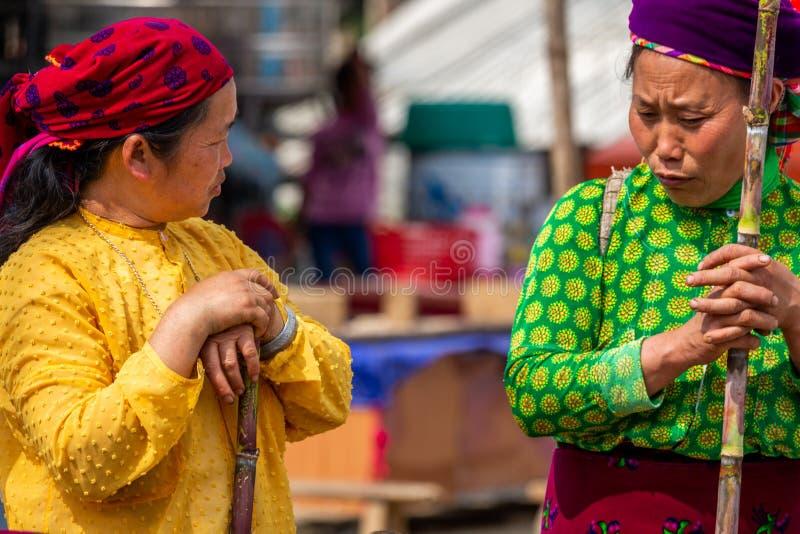 Femmes de minorité ethnique de Mong image libre de droits