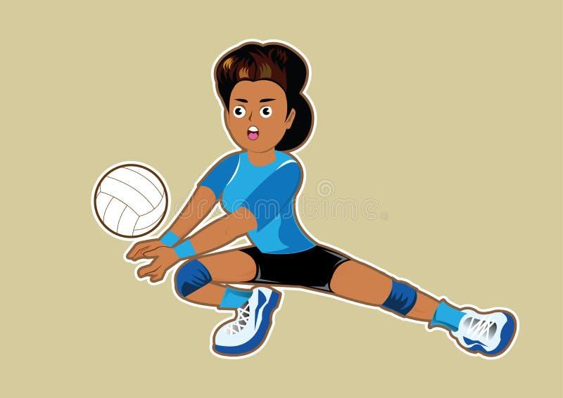 Femmes de volleyball illustration stock