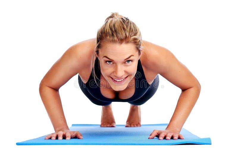 Femmes de yoga d'isolement photographie stock