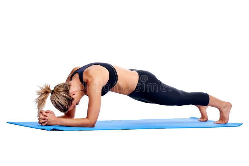 Femmes de yoga d'isolement photos stock