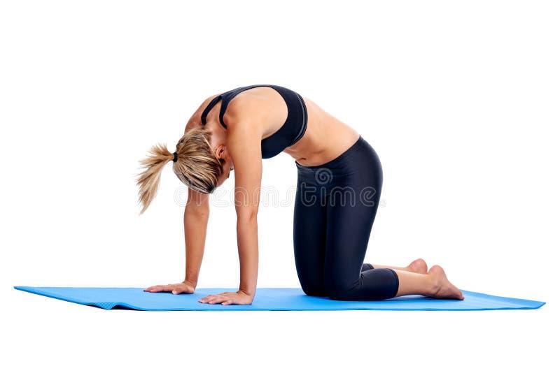 Femmes de yoga d'isolement photo stock