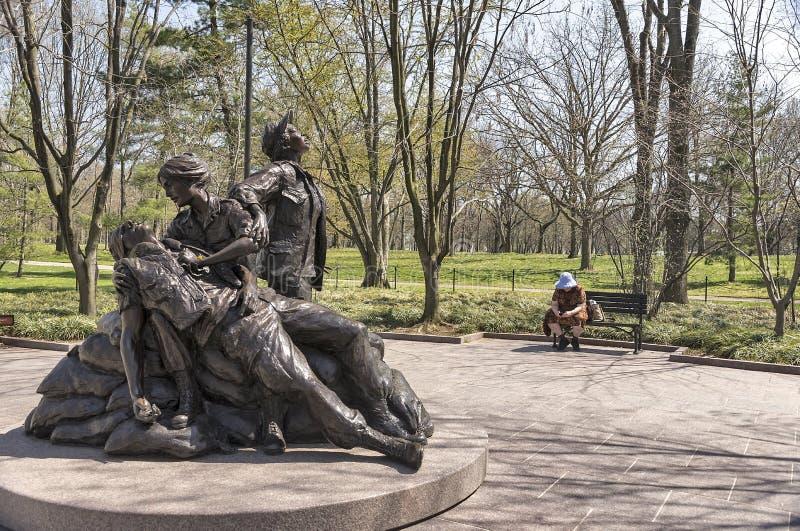 Femmes du Vietnam commémoratives à Washington image stock