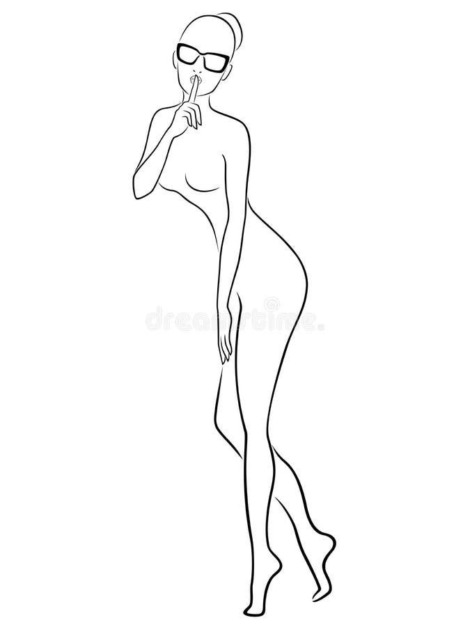 Femmes en verres illustration de vecteur