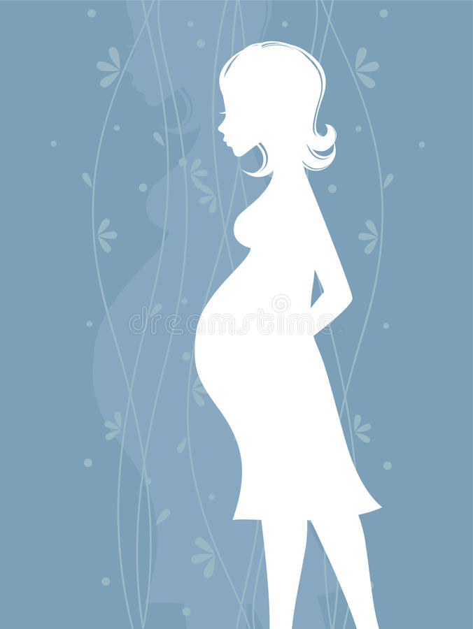 Femmes enceintes illustration de vecteur