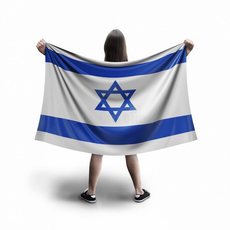Femmes et drapeau israélien illustration libre de droits