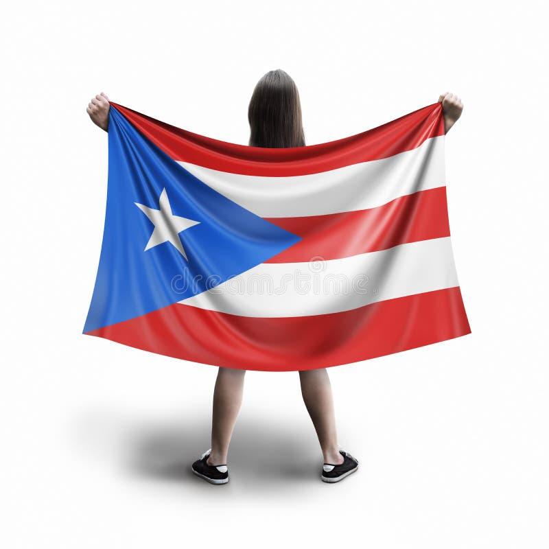 Femmes et drapeau portoricain illustration de vecteur