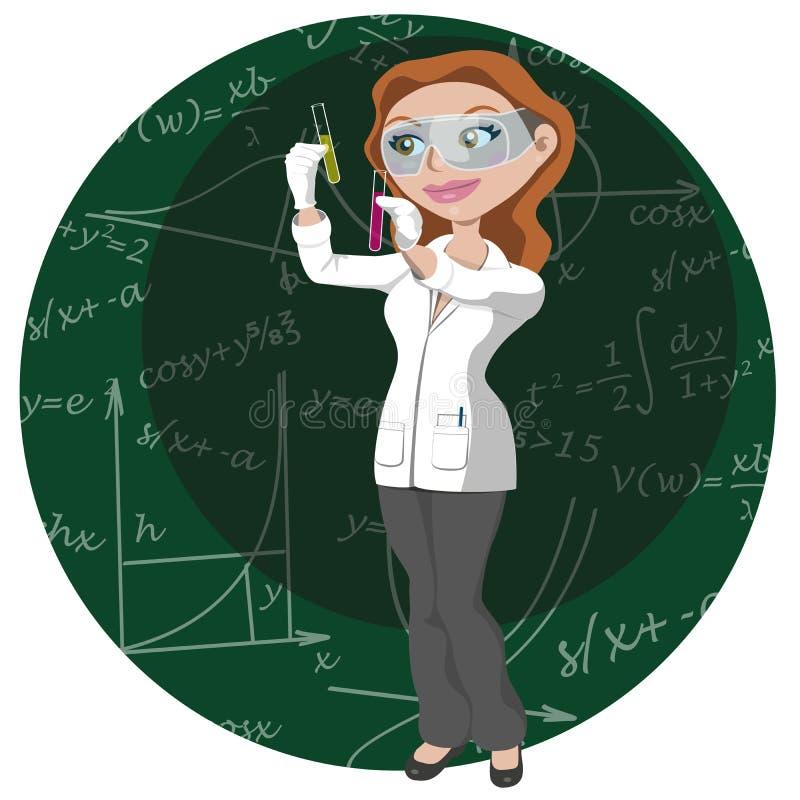 Femmes et science image stock