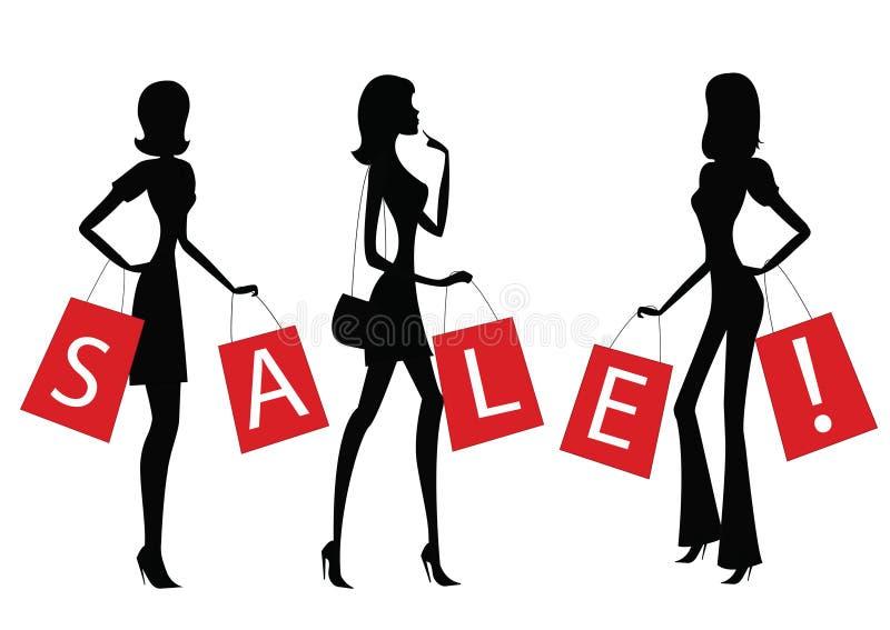 Femmes faisant des achats illustration stock