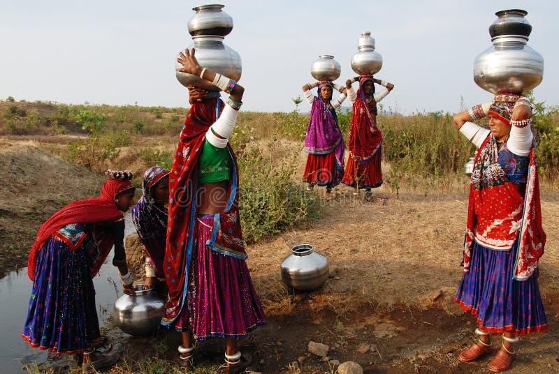Femmes gitanes en Inde photos libres de droits