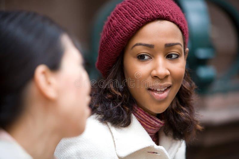 Femmes heureuses d'affaires image libre de droits