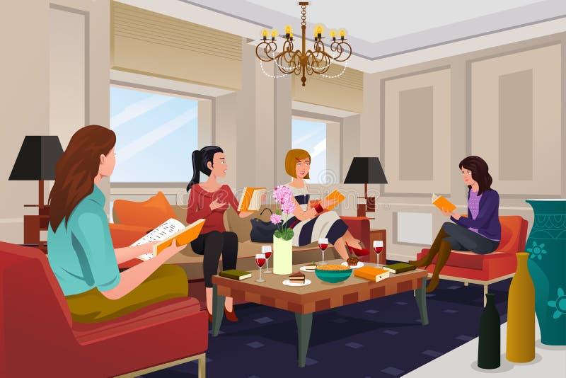 Femmes lors d'une réunion de club de lecture illustration stock