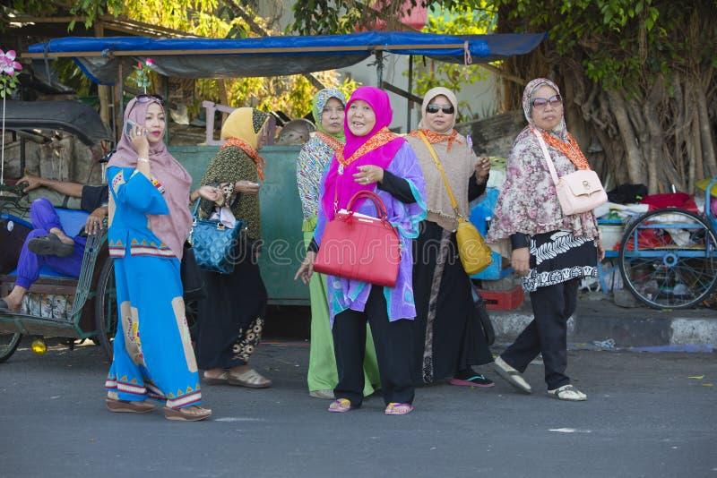 Femmes musulmanes indonésiennes images libres de droits