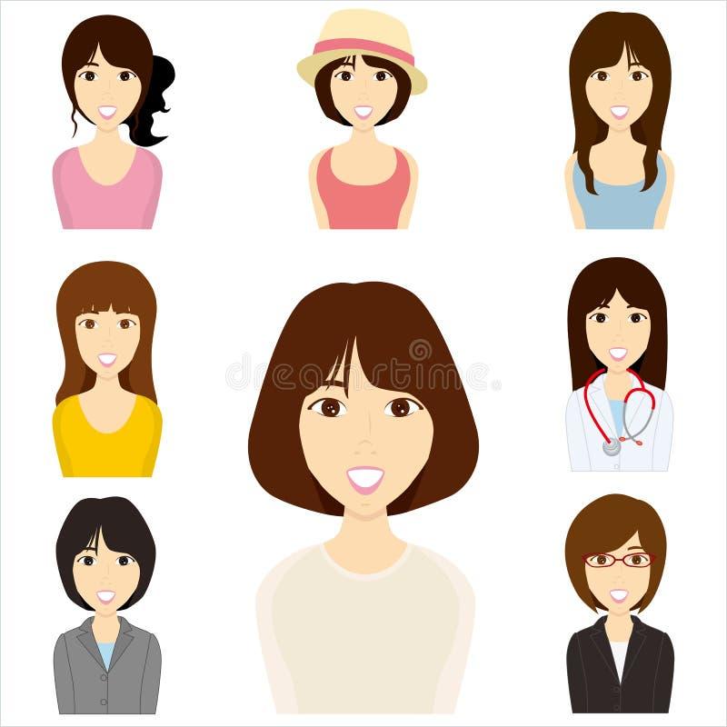 Femmes réglés illustration de vecteur