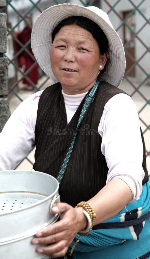 Femmes tibétains images stock