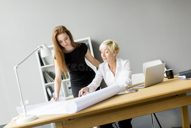 Femmes travaillant dans le bureau photographie stock libre de droits