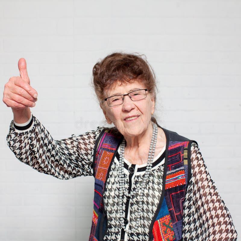 Femmina anziana felice fotografia stock