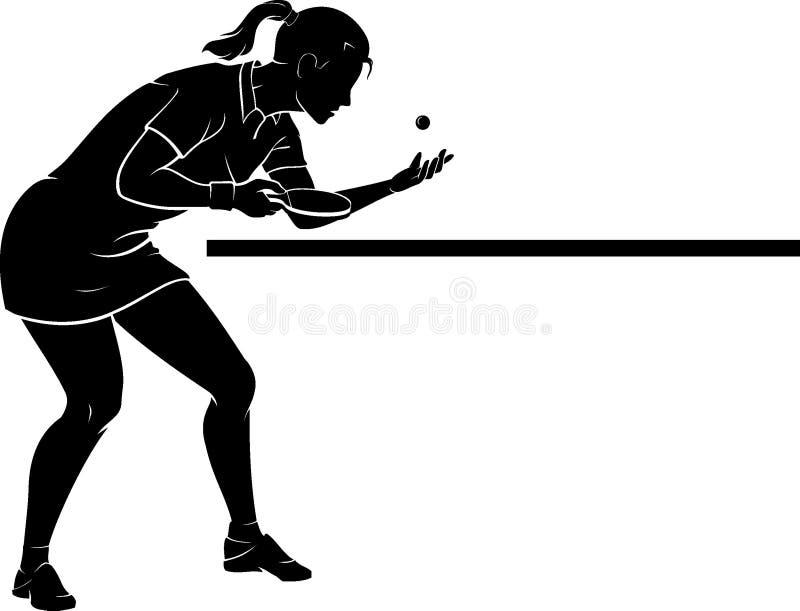 Femmina di servire di ping-pong illustrazione vettoriale
