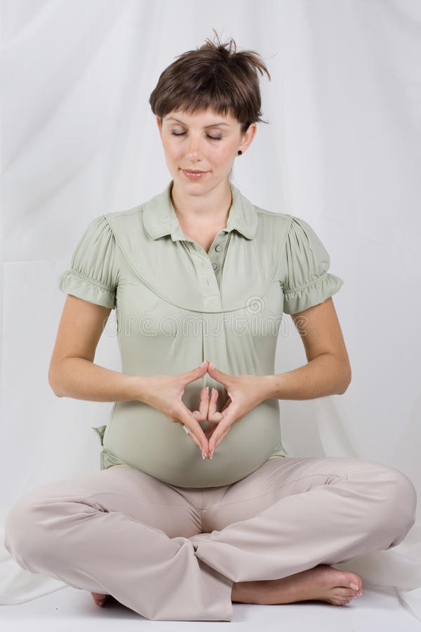 Femmina incinta fotografia stock libera da diritti