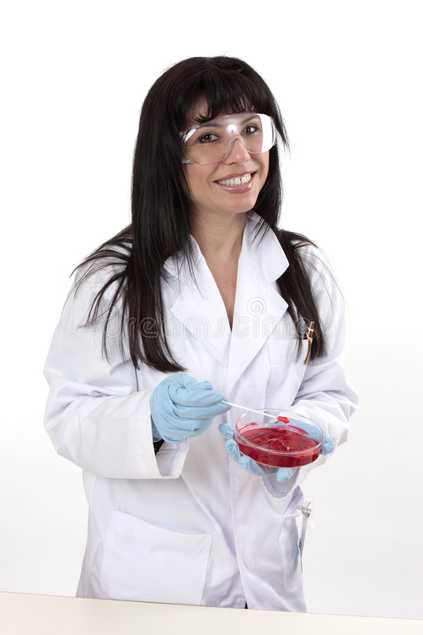 Femmina in laboratorio immagine stock libera da diritti