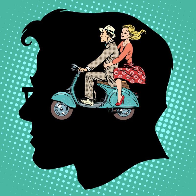 Femmina maschio di amore di gelosia royalty illustrazione gratis
