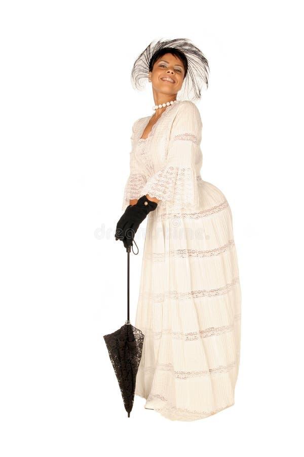 Femmina in vestito ed accessori dal merletto immagini stock