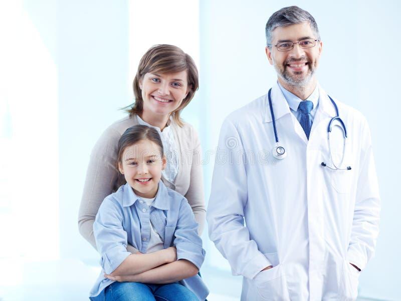 Femmine e medico fotografia stock