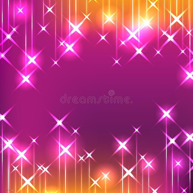 Femminile luminoso di caduta della stella royalty illustrazione gratis
