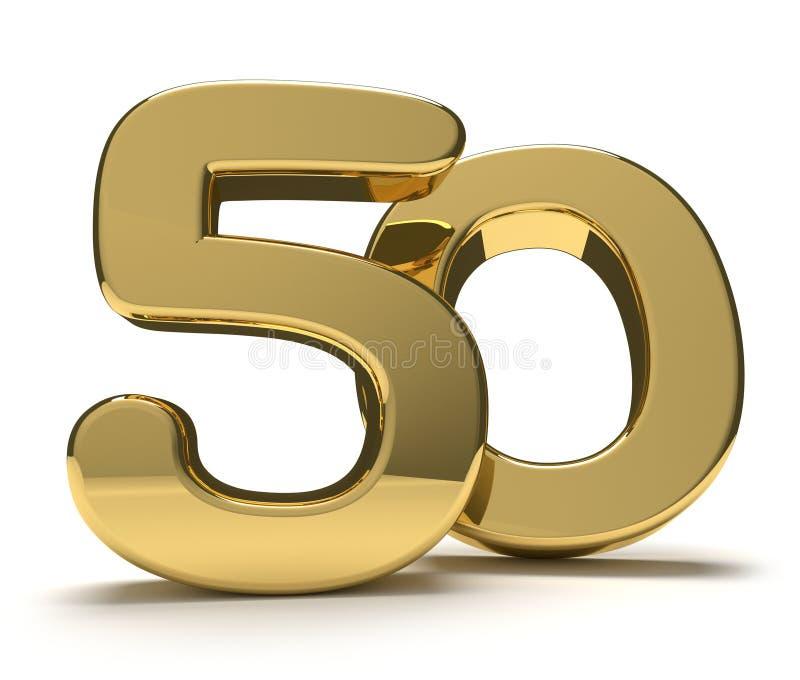 50 femtio 3d framför stock illustrationer