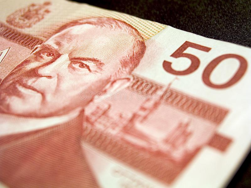 Femtio dollar sedel (kanadensare) royaltyfria foton