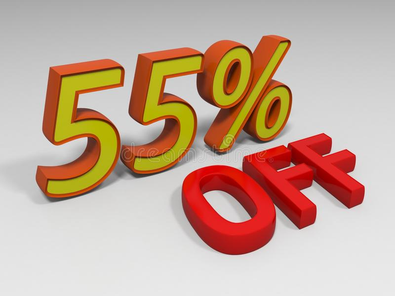 femtio procent vektor illustrationer
