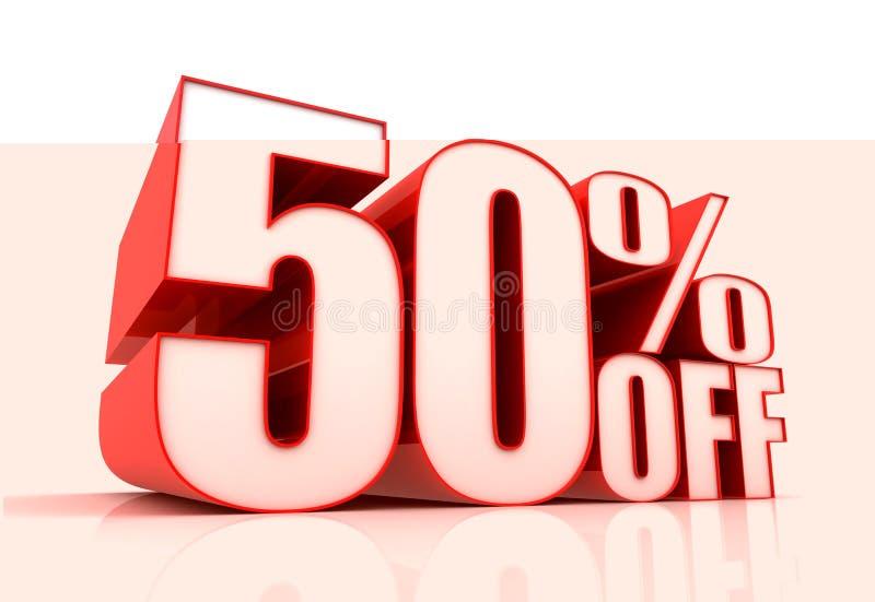 Femtio procent av försäljningsbegreppsillustration vektor illustrationer