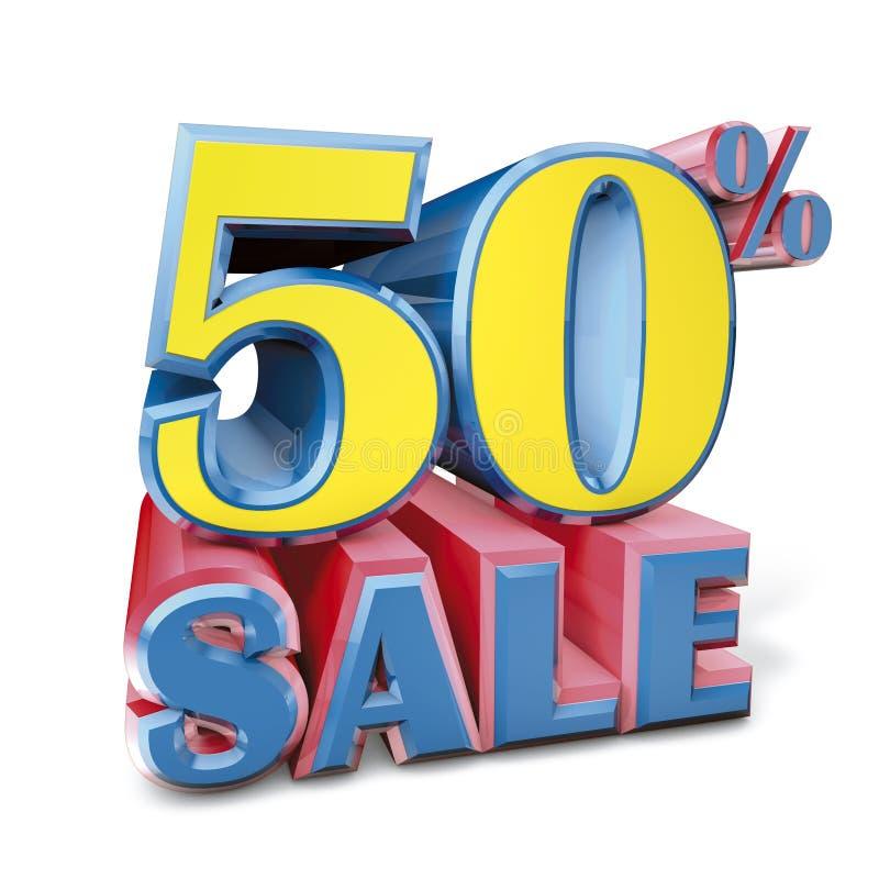 femtio procent försäljning vektor illustrationer