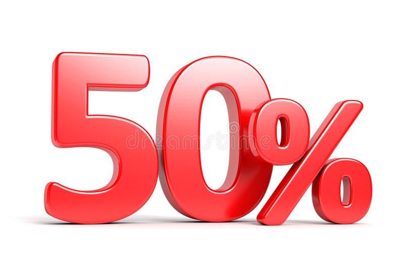 Femtio procent rabattbegrepp vektor illustrationer