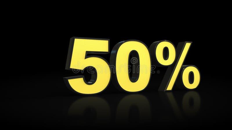 Femtio tolkning för 50% procent 3D vektor illustrationer